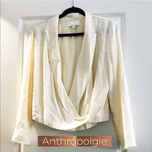 Anthropologie Linen Cross Top